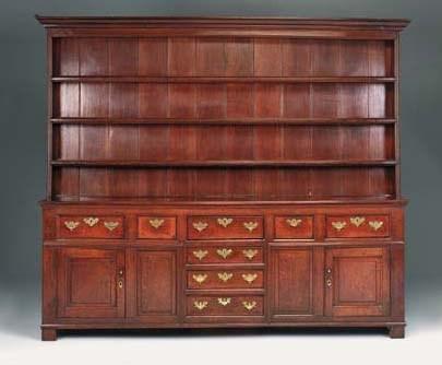 A large oak dresser, North Cou