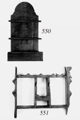 A pine spoon rack, late 19th c