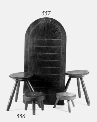 Four milking stools, 19th cent