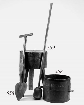 A peat cutter, late 19th/early