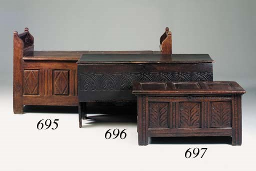 A chestnut settle/chest, Frenc