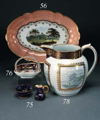 An English porcelain ozier-mou