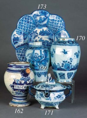 A Delft blue and white posset