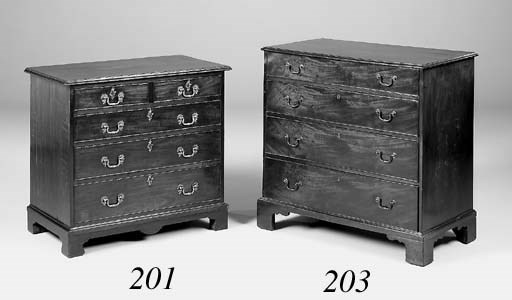 A George III mahogany chest, 1