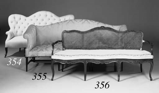 A French ash frame settee, 19t