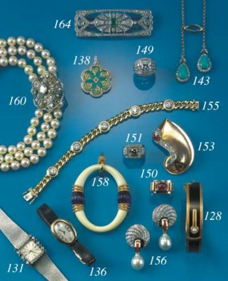 A diamond and enamel pendant,