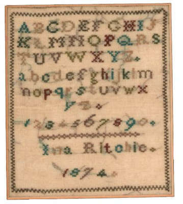 An Irish cross stitch sampler