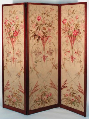An aubusson tapestry three fol