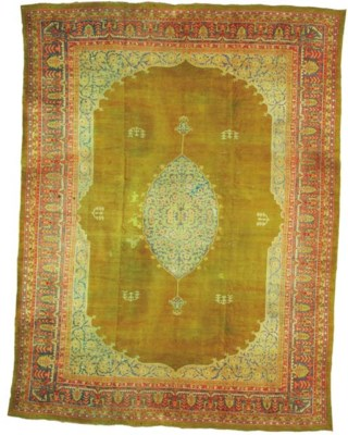 An antique Borlou carpet