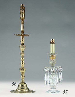 A matched pair of cut glass ca