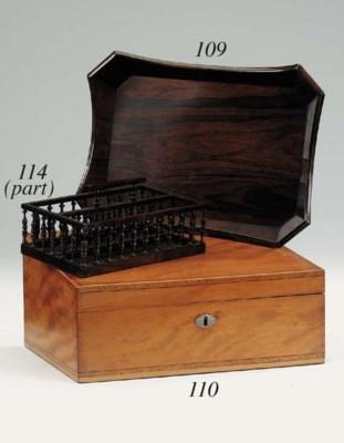 A Regency rosewood desk tray,