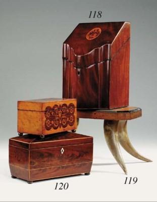 A Regency mahogany and boxwood