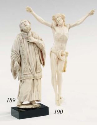 An Italian carved ivory figure