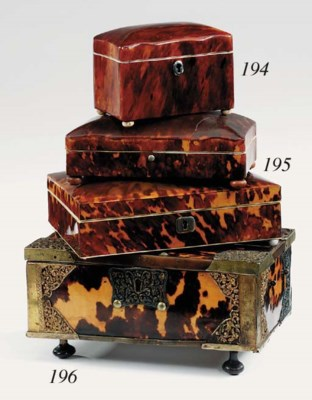 A Victorian tortoiseshell and