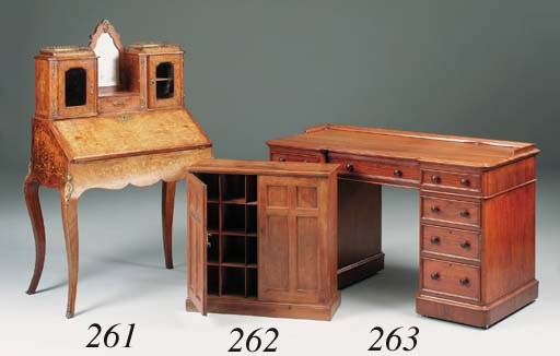 A small Victorian yew-wood Est