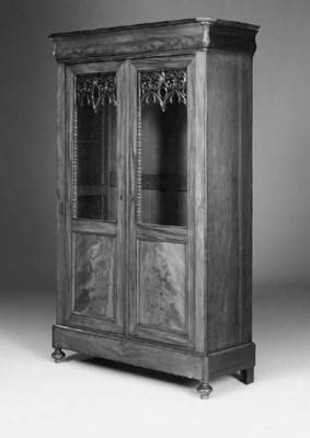 A Napoleon III mahogany biblio