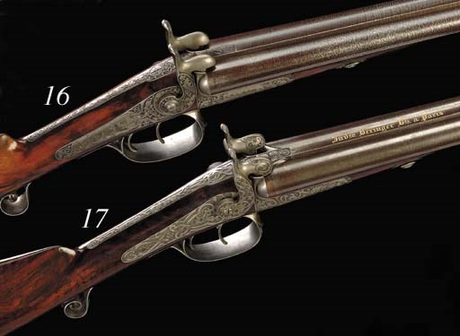 A Cased 15-Bore French D.B. Pi
