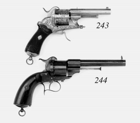 A .44 Lefaucheux Patent Six-Sh
