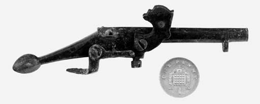 Three English Bronze Toy Firea