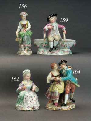 A Meissen group of dancers