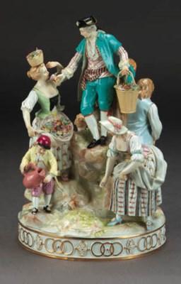 A Meissen pastoral group