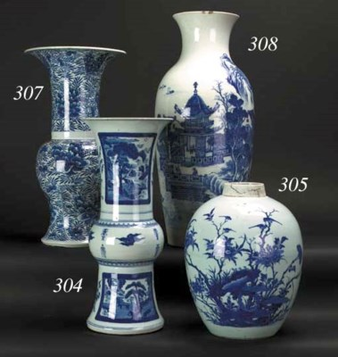 A Chinese blue and white crack