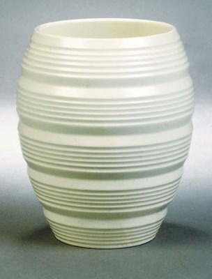 A Wedgwood ribbed vase
