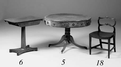 A mahogany drum table, early 1