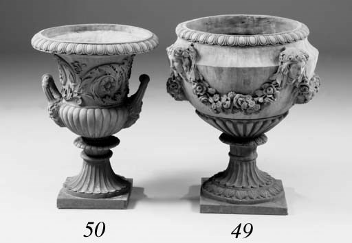 A pair of terracotta campana u