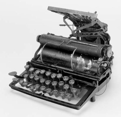A Fitch typewriter,