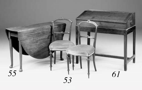 A mahogany gate-leg table, 18t