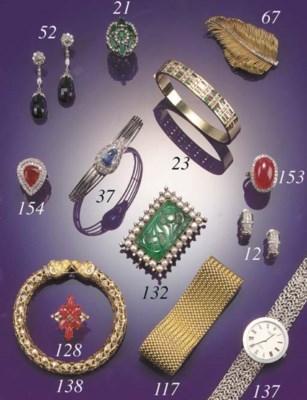 A diamond bangle,