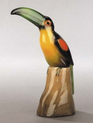 'Toucan on a Perch - black' H.