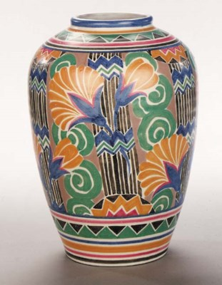 A large CSA vase decorated wit