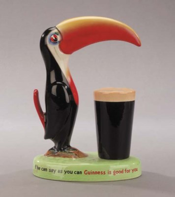 A Guinness advertising lampbas