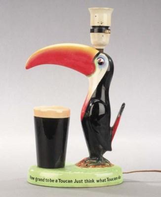 A Guinness advertising lampbas