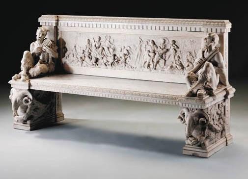 A Florentine white marble gard