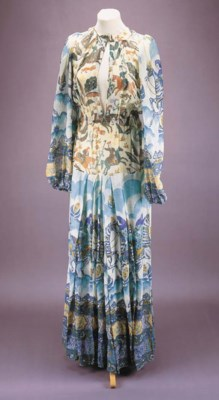 A summer dress of cotton voile