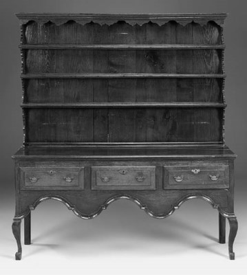 An oak dresser, English, mid 1