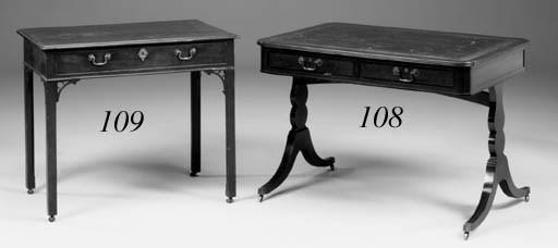A mahogany side table, mid 19t