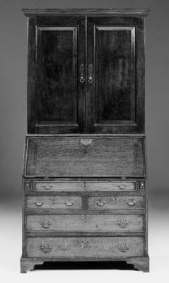 An oak bureau cabinet, parts 1