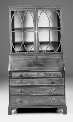 A mahogany bureau bookcase, 19