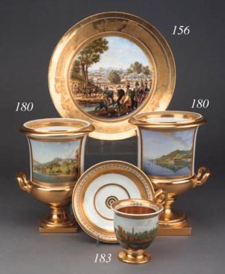 A Paris porcelain plate