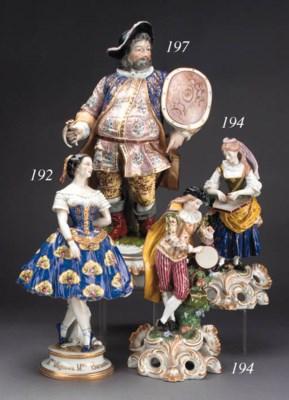A pair of Samson figures of mu
