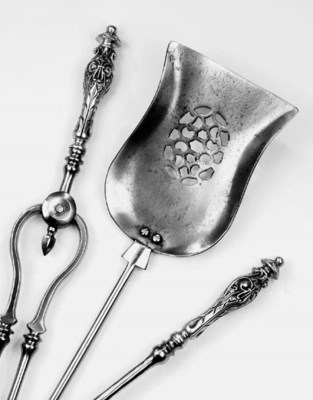 A set of English steel and bra