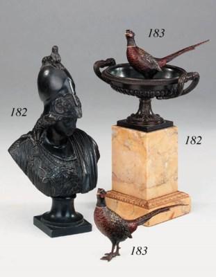 A Restauration bronze and sien