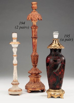 A pair of Portuguese carved gi