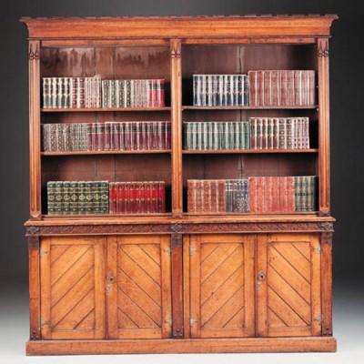 A Victorian oak bookcase