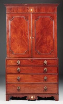 A Regency mahogany ivory, ebon