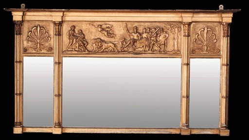 A carved giltwood and composit